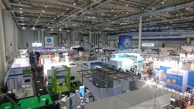 Messe Windenergie in Hamburg